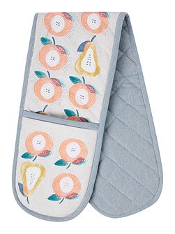 Apples and pears double oven glove