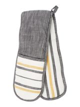 Gray & Willow Yellow stripe double oven glove