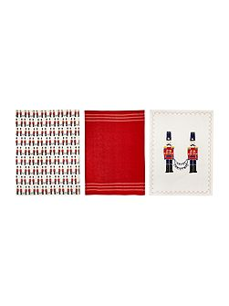 Nutcracker set of 3 tea towels