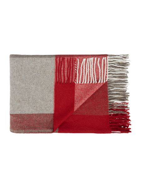 Linea Check throw, red