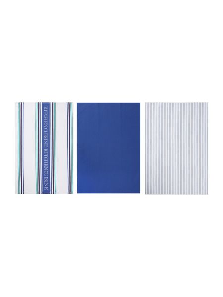 Linea Cuisine stripe set of 3 tea towels