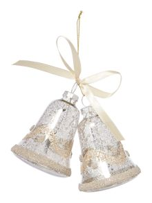 Linea Set of 2 Mercury Glitter Bells