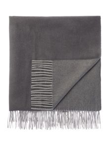 Casa Couture Lambswool throw, grey
