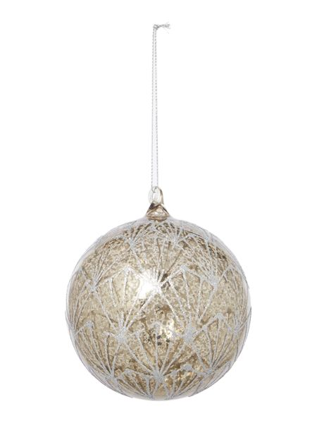 Linea Glitter Deco Mercury Bauble
