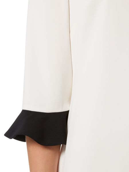 Shubette Long sleeve colour block dress with frill