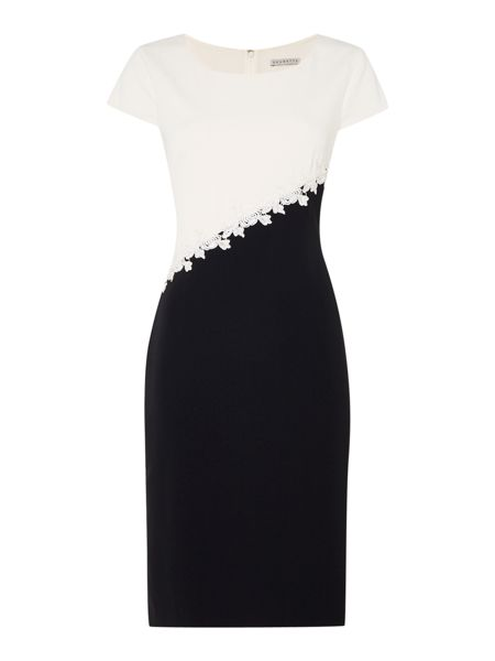 Shubette Contrast dress with embroidery detail