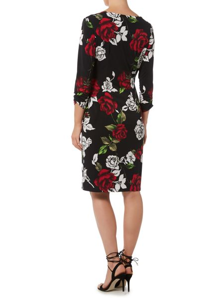 Shubette Rose print jersey dress