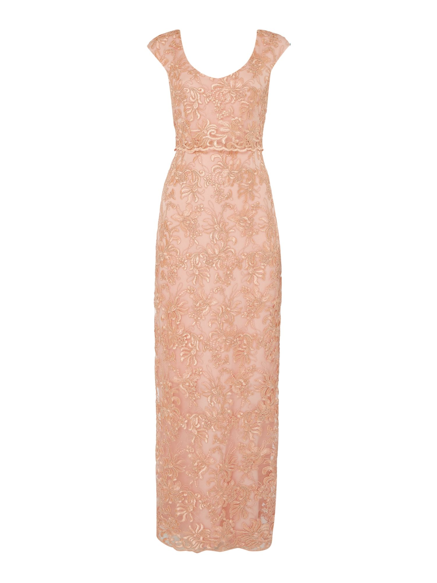 Shubette Embroidery maxi dress, Taupe