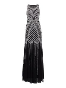 Adrianna Papell All over beaded monochrome dress