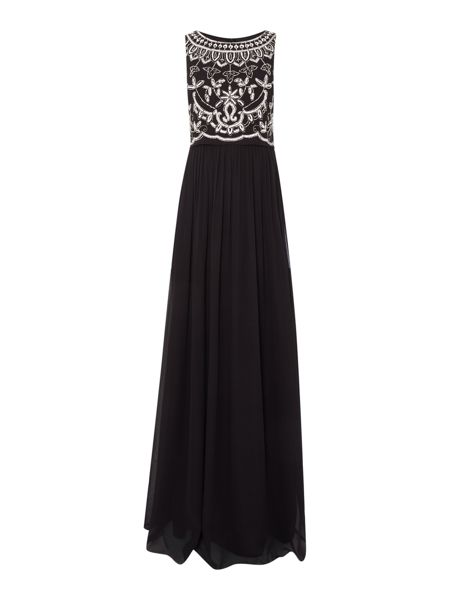 Adrianna Papell Beaded pop over dress