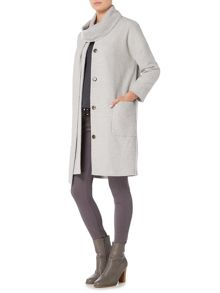 Gray & Willow Tova scarf textured coat