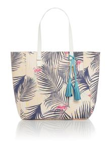 Nica Veronica palm print tote shoulder bag