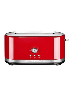 Manual Control Long Slot Toaster Empire Red