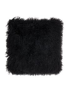 Biba Mongolian lamb cushion, black