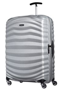 Samsonite Lite-Shock silver 4 wheel large 75cm suitcase