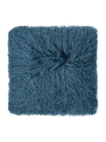 Biba Mongolian lamb cushion, teal