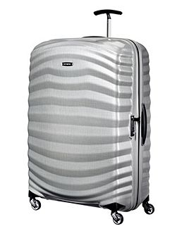 Lite-Shock silver 4 wheel extra large 81cm case