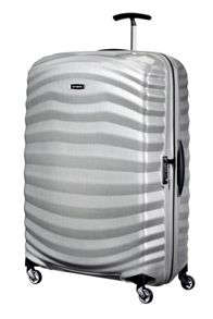 Samsonite Lite-Shock silver 4 wheel extra large 81cm case