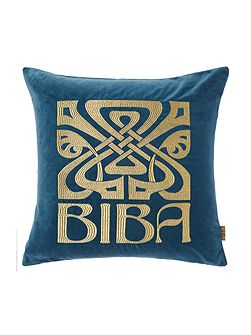 Signature Biba cushion, teal