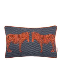 Living by Christiane Lemieux Embroidered zebra cushion