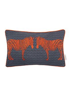 Embroidered zebra cushion