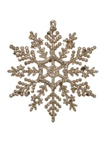 Linea Set of 12 Champagne Snowflakes