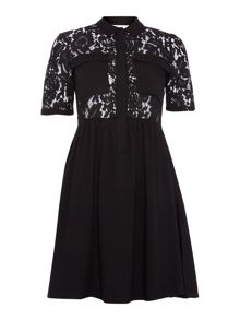 Vero Moda 3/4 Sleeve Lace Shirt Style Dress
