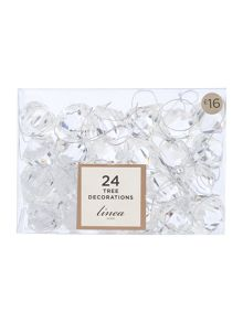 Linea Set of 24 Jewel Christmas Decorations