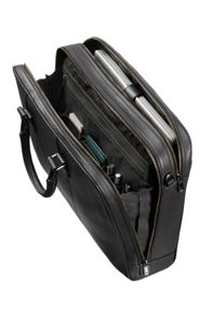 Samsonite Equinox black leather bail handle 15.6 inch