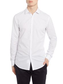 Benetton Printed Woven Long Sleeve Shirt