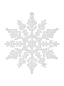 Linea Set of 12 White Snowflakes