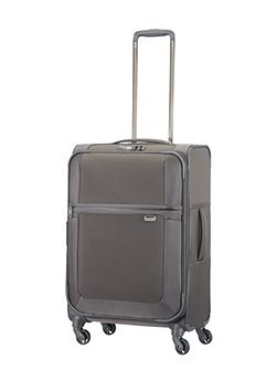 Uplite grey 4 wheel 67cm medium suitcase