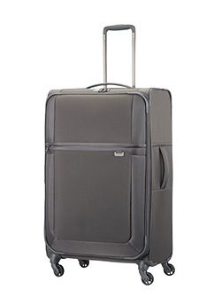 Uplite grey 4 wheel 78cm large suitcase