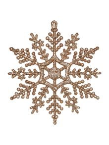 Linea Set of 12 Gold Snowflakes
