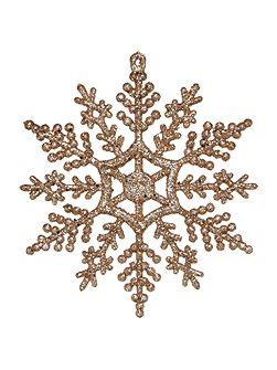 Set of 12 Gold Snowflakes