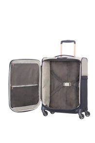 Samsonite Uplite pearl and navy 4 wheel 55cm cabin suitcase