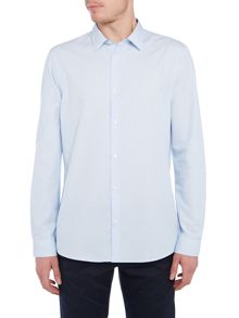 Michael Kors Rex slim fit stripe long sleeve shirt