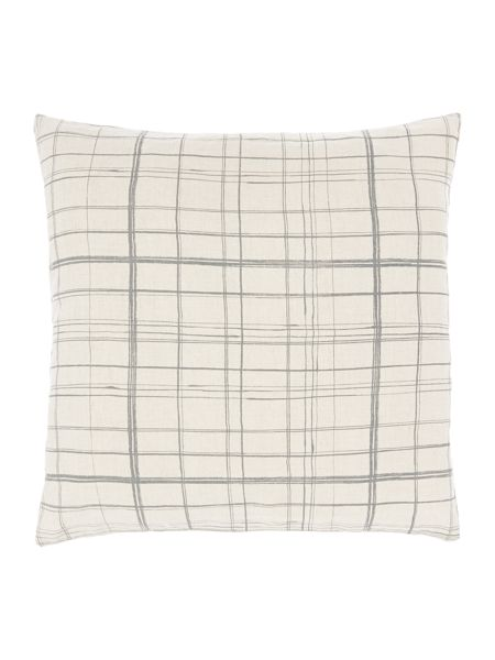 Gray & Willow Painted check grey cushion