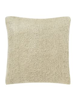 Brushed herringbone cushion
