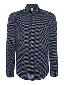 C-briar mini geo print long sleeve shirt