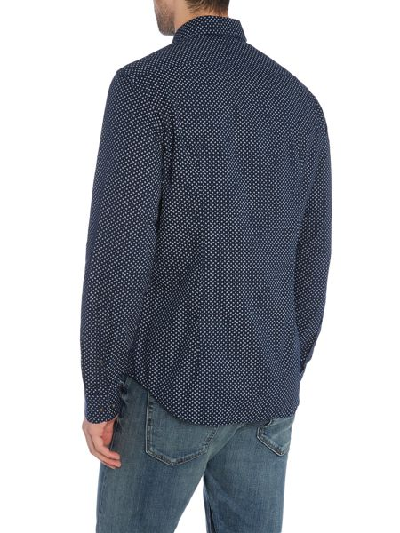 Hugo Boss C-briar mini geo print long sleeve shirt