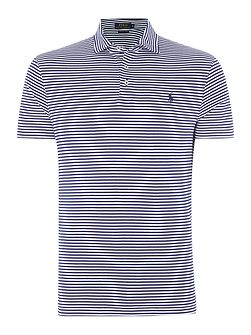 Custom Fit pima cotton stripe polo