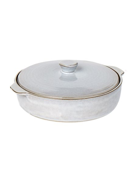 Gray & Willow Round roaster with lid