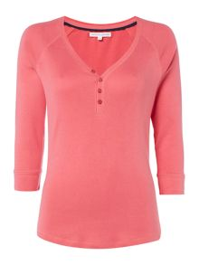 Dickins & Jones Henley Rib Jersey Top