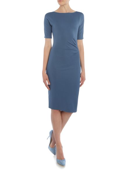 Max Mara Giunchi short sleeve ruched jersey dress
