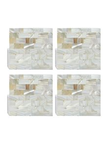 Linea Mother of pearl coasters set of 4