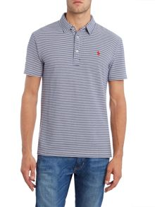 Polo Ralph Lauren Custom fit featherweight stripe mesh polo