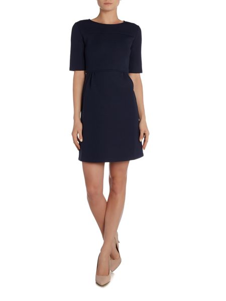 Max Mara Berbice long sleeve neoprene a line dress