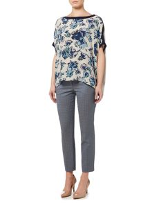 Max Mara Fresis long sleeve floral print top