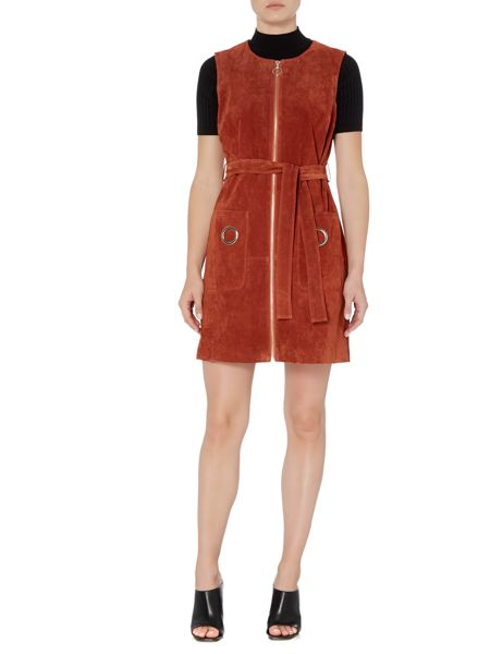 Therapy Harper Suede Zip Dress